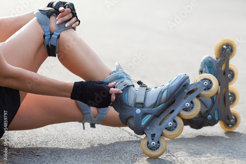 Stampa su Tela Legs Wearing Roller Skating Shoe