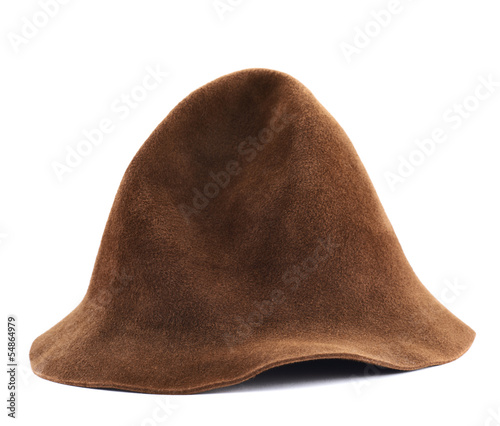 Photo  Brown hat isolated