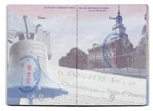 USA Passport Stamped Page