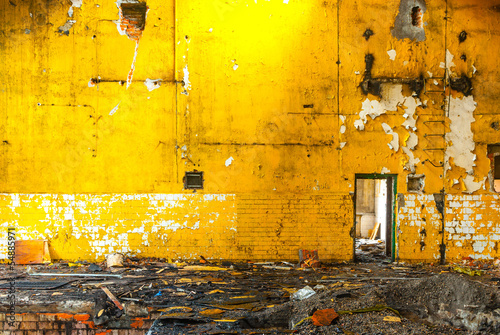 Acrylic Prints Old abandoned buildings factory