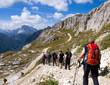 Wanderer in den Dolomiten - Alpen
