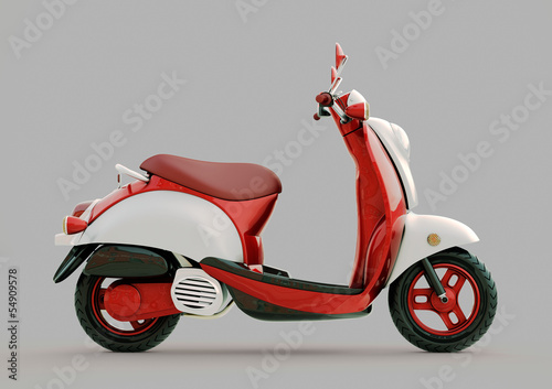 Classic scooter Canvas Print