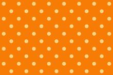 Dot On Orange Background