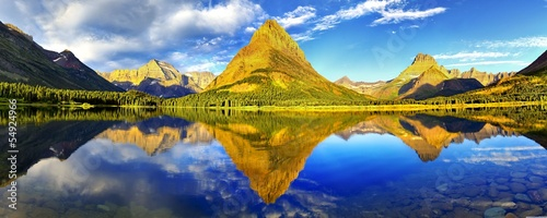 Fotografia, Obraz  Glacier_national_park_panorama-wallpaper