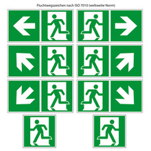 Fluchtweg Vorlage Nach ISO