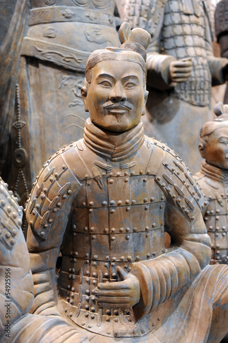 famous Chinese terracotta army figures