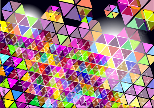 Deurstickers ZigZag abstract vector background with colorful shapes