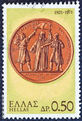 Fotografie, Obraz  Warriors taking the oath on a medal (Greece 1971)