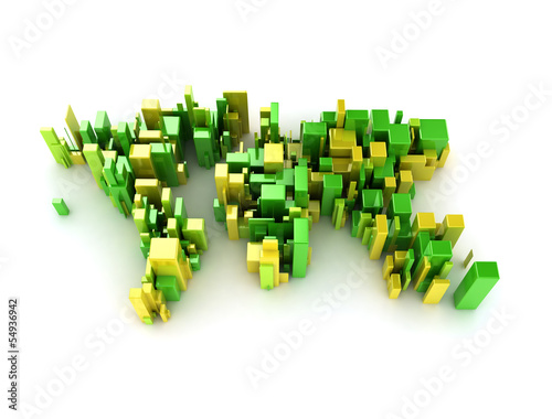 Abstract 3d illustration world map