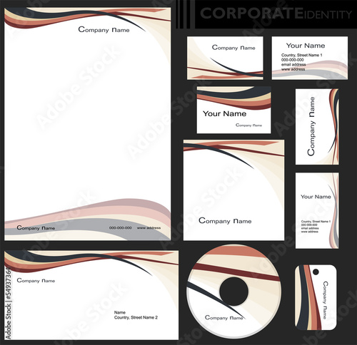Identyfikacja wizualna firmy, zestaw Wallpaper Mural