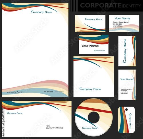 Identyfikacja wizualna firmy, zestaw Poster