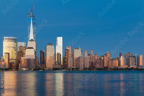 Night view of Manhattan from Hudson river