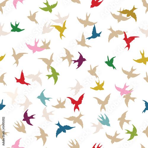 Wzór wiosna ptaków
