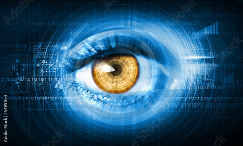 Obraz Close-up of human eye - fototapety do salonu