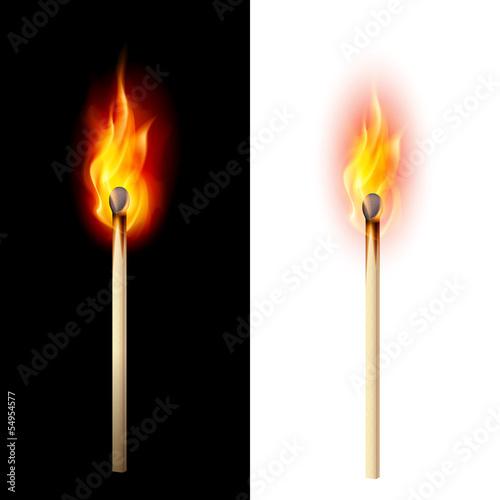 Photo Burning match