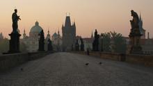 Morning Charles Bridge In Prague