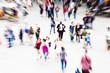 canvas print picture - Menschen unterwegs mit Zoom-Effekt