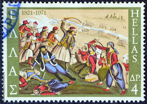 Fotografie, Obraz  Smrt Izaiáše, biskup Salona, v bitvě (Řecko 1971)