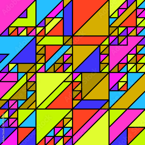 Keuken foto achterwand ZigZag Abstract retro background
