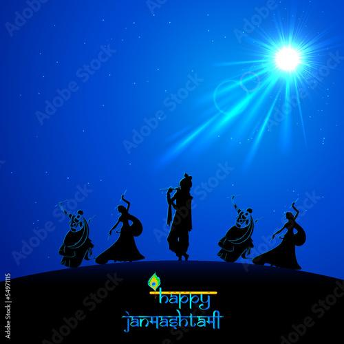 фотография Lord Krishna doing Rash Leela in Janmasthami
