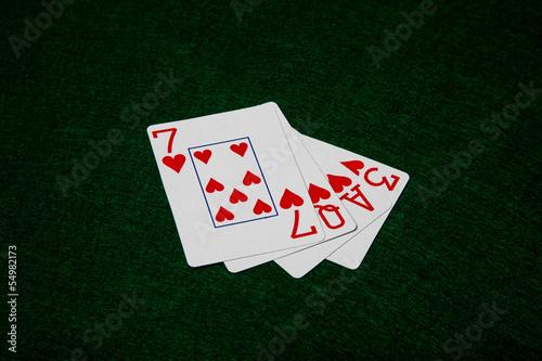 Cards spelling love. плакат