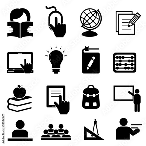 Back to school icons Poster