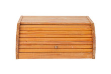 Old Used Dirty Wooden Bread Box