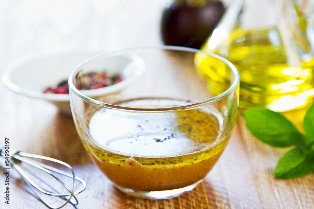 Fototapety, obrazy: Homemade salad dressing