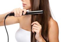 Young Woman Iwth A Hair Straig...