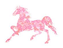 午 馬 桜 年賀状
