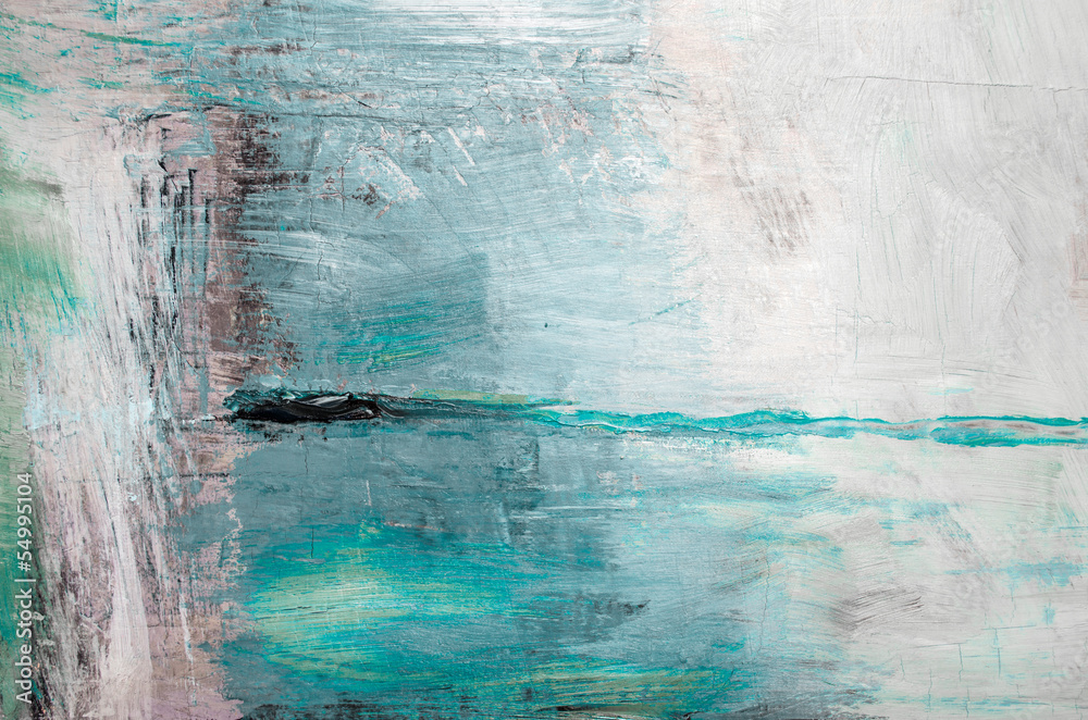 Fototapety, obrazy: Oil painting abstract texture background