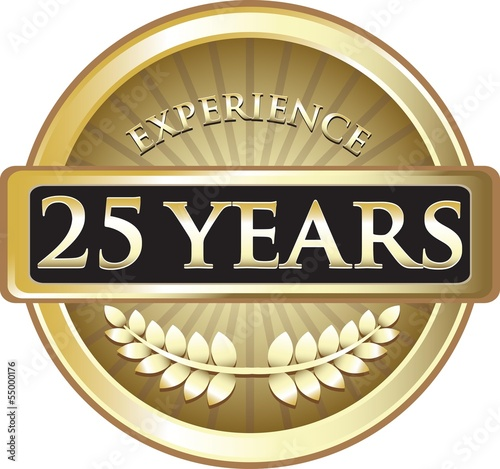 Poster  Twenty Five Years Experience Pure Gold Award