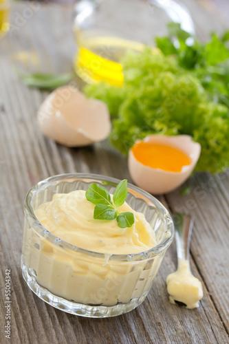 Photo Homemade aioli sauce.