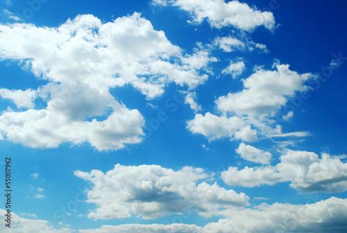 niebo z chmurami - fototapety na wymiar