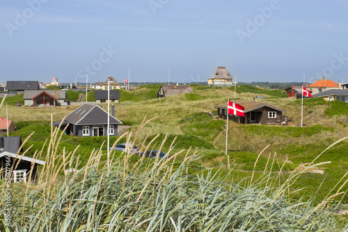 Summer houses at the North Sea Poster