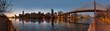 Manhattan Skyline at the evening