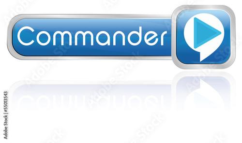 Photo bouton bulle bleu : commander