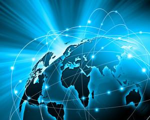 Fototapeta Blue image of globe