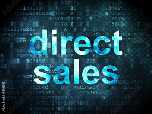 Advertising concept: Direct Sales on digital background Poster