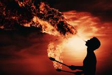 Fire Show Artist Breathe Fire ...