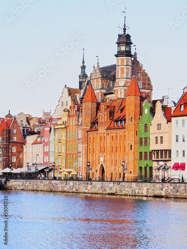 obraz PCV Gdansk Cityscape and Moltawa River in Poland