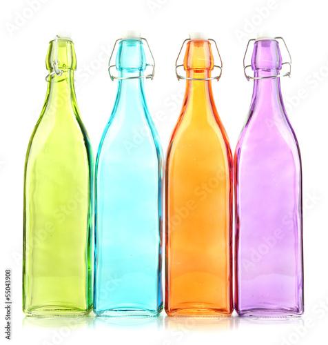 oproznia-kolor-szklane-butelki-odizolowywac-na-bielu
