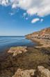 Black sea coast, located on Tarkhankut, Crimea,