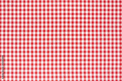 obraz PCV Czerwony i biały obrus tle