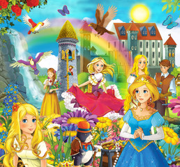 The fairy tales mush up - castles knights fairies
