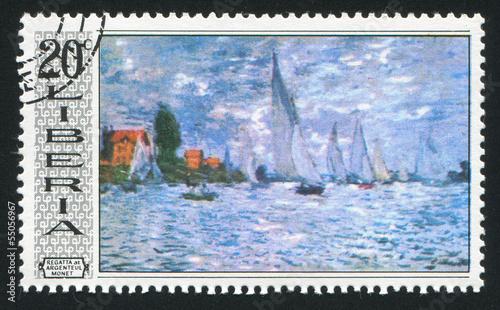 Photo Regatta at Argenteuil by Claude Monet