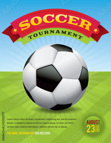 Photo  Soccer Tournament Design