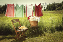 Washing Day With Laundry On Cl...