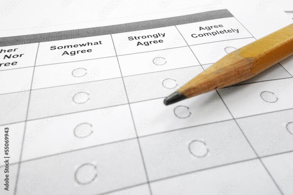 Fototapeta survey form