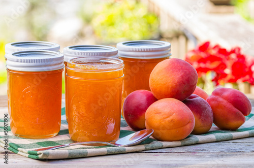 Homemade apricot jam or preserves